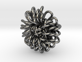 Ring 'Wiener Blume', Size 4 (Ø 14.8 mm) in Fine Detail Polished Silver