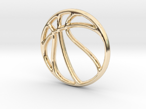 Basketball Pendant/Charm - 16mm in 14K Gold