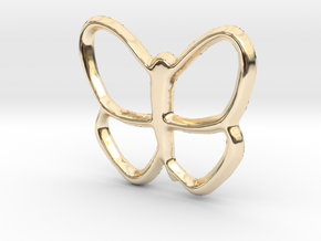Butterfly Pendant/Charm - 16mm in 14K Yellow Gold