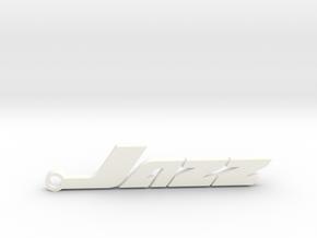 Honda Jazz - keychain in White Processed Versatile Plastic