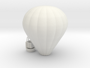 Hot Air Baloon - 1:100scale in White Natural Versatile Plastic