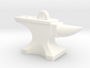 Anvil Pendant - Original Design in White Processed Versatile Plastic