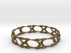 Garden Bangle in Polished Bronze
