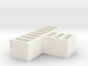 Slim USB Holder in White Processed Versatile Plastic