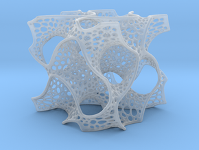 Gyroid Math Art in Smooth Fine Detail Plastic