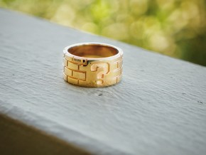 Mario Ring Size 8 in 14k Gold Plated