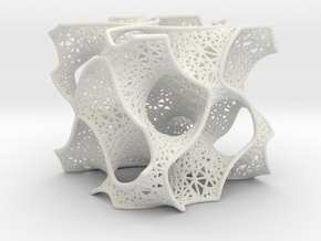 Gyroid Mesh Pattern in White Natural Versatile Plastic