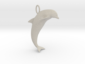 Dolphin Pendant in Natural Sandstone