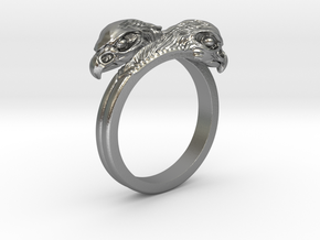 Ring double Eagles // Size US 10 3/4 in Raw Silver