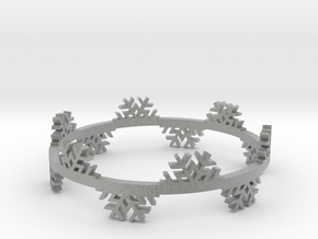 Snow Flake Bracelet in Metallic Plastic
