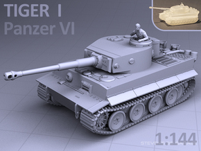 1/144 - TIGER I TANK in Smooth Fine Detail Plastic