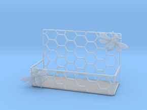 Honey Bee Card Holder in Smooth Fine Detail Plastic