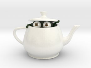 Teapot Dweller in Coated Full Color Sandstone