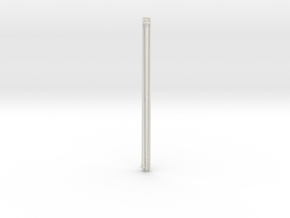 1:96 scale Navy whip antenna -Round (35 Foot) in White Strong & Flexible