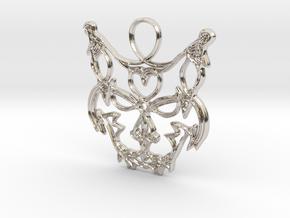 Freyjuköttur - Cat of Freyja in Rhodium Plated Brass