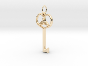 Friggjarlykill  - Key of Frigg in 14K Gold