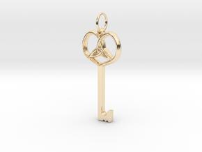 Friggjarlykill  - Key of Frigg in 14K Yellow Gold