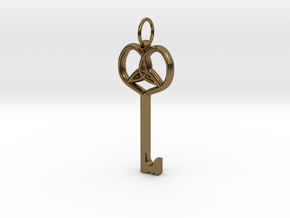 Friggjarlykill  - Key of Frigg in Polished Bronze