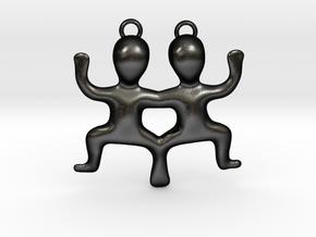 Gemini Pendant in Matte Black Steel