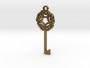Friggjarlykill #3  - Key of Frigg in Polished Bronze