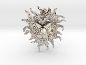 Leo Pendant in Rhodium Plated Brass