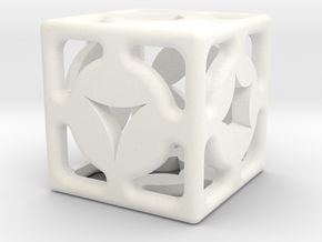 D6 Shape Die in White Strong & Flexible Polished