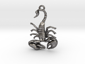 Scorpio Pendant in Polished Nickel Steel