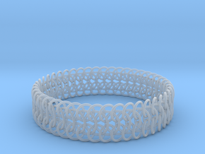 Euro 6-in-1 Chainmail Bracelet B in Smooth Fine Detail Plastic