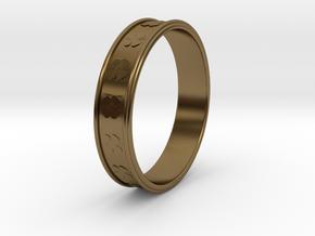 Ø0.781 inch/Ø19.84 Mm Clover Ring in Polished Bronze
