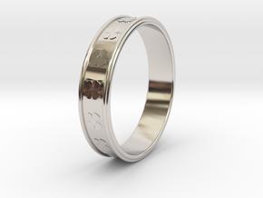 Ø0.781 inch/Ø19.84 Mm Clover Ring in Rhodium Plated Brass