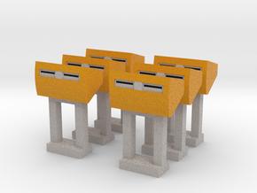 [6st] PostNL Brievenbus 1:87 (H0) in Full Color Sandstone