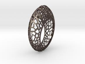 Orbit Bangle  in Polished Bronzed Silver Steel