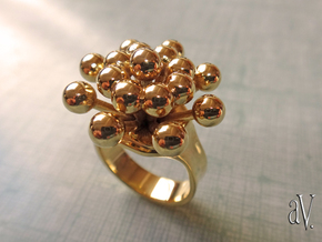 Bulbs Spray Ring in 14k Gold Plated: 7 / 54