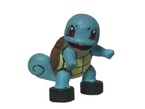 Custom Squirtle Pokemon Inspired Lego in White Processed Versatile Plastic