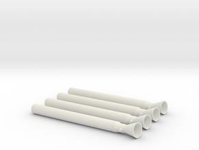 Ullage Motor 4-Pack in White Natural Versatile Plastic