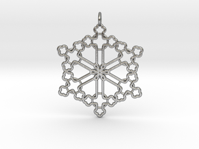 The Snowflake Cross in Natural Silver