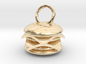 Cheeseburger pendant in 14K Yellow Gold