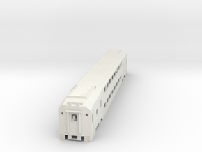 Nj Transit MultiLevel Coach (HIghDetailed) N Scale in White Natural Versatile Plastic