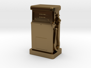TT Gauge - 1980's Petrol Pump in Polished Bronze