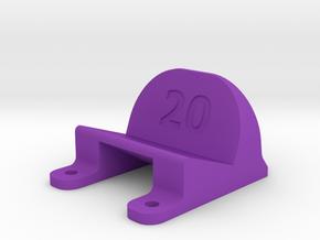 ImpulseRC Alien 5 - 20° Action Cam Mount in Purple Strong & Flexible Polished