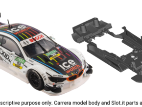 S10-ST1 Chassis for Carrera BMW M4 DTM STD/LMP in Black Strong & Flexible