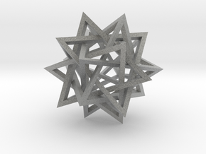 Five Intersecting Tetrahedrons Assembly in Metallic Plastic