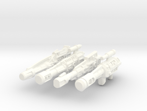 Combiner Wars Stunticon Deluxe Weapons in White Processed Versatile Plastic