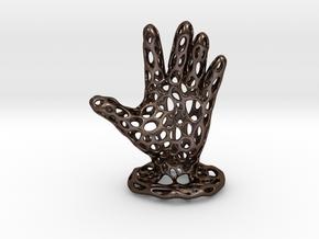 Voronoi Jewelry Hand in Polished Bronze Steel