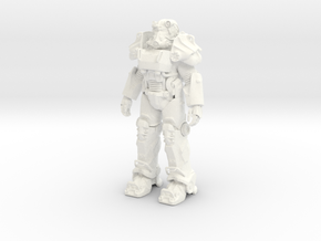Power Armor T-60 in White Processed Versatile Plastic