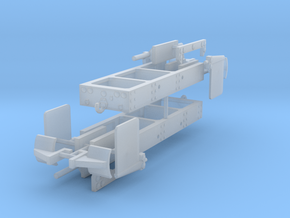 1/64th Log truck end frame 2 with details (2) in Smooth Fine Detail Plastic