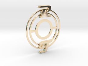 Pickup Selector Plate - Magneto R/T With Circle Tr in 14k Gold Plated Brass