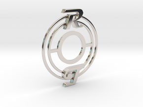 Pickup Selector Plate - Magneto R/T With Circle Tr in Rhodium Plated Brass