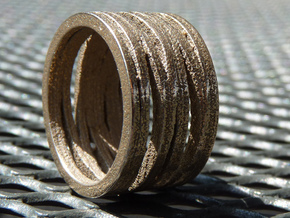 BASHIBA STRIPES (16.5 mm) in Polished Bronzed Silver Steel