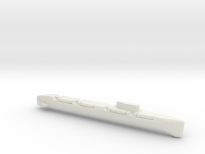 Echo-Class SSGN, Full Hull, 1/1800 in White Natural Versatile Plastic